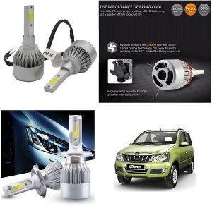 Headlights and bulbs - Trigcars Mahindra Qunto Car LED HID Head Light