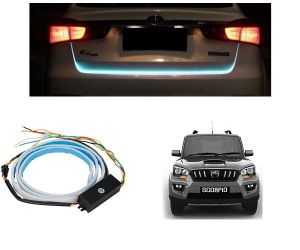 Trigcars Mahindra Scorpio Car Dicky LED Light Car Bluetooth