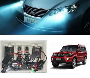 Headlights and bulbs - Trigcars Mahindra Scorpio New Car HID Light