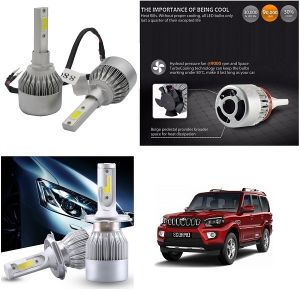 Headlights and bulbs - Trigcars Mahindra Scorpio New Car LED HID Head Light