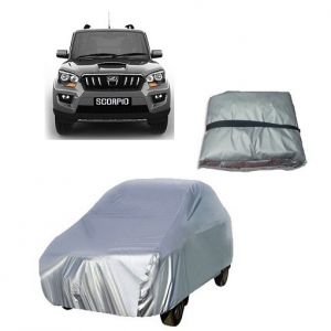 Trigcars Mahindra Scorpio Old Car Cover Silver