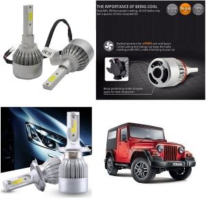 Trigcars Mahindra Thar Car LED Hid Head Light