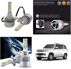 Trigcars Mahindra Tuv 300 Car LED Hid Head Light