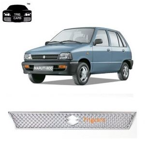 Trigcars Maruti Suzuki 800 Car Front Grill Chrome Plated