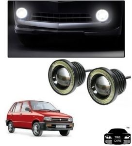 Trigcars Maruti Suzuki 800 Car High Power Fog Light With Angel Eye