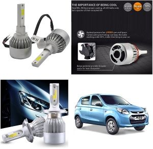 Headlights and bulbs - Trigcars Maruti Suzuki Alto 800 Type 2 Car LED HID Head Light