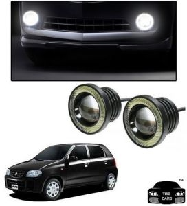 Trigcars Maruti Suzuki Alto Car High Power Fog Light With Angel Eye