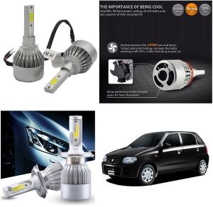 Headlights and bulbs - Trigcars Maruti Suzuki Alto Car LED HID Head Light