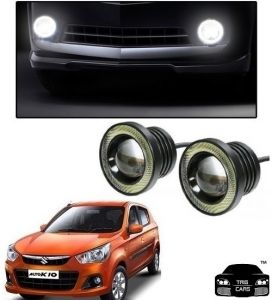 Trigcars Maruti Suzuki Alto K10 Car High Power Fog Light With Angel Eye