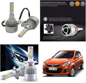 Trigcars Maruti Suzuki Alto K10 Car LED Hid Head Light