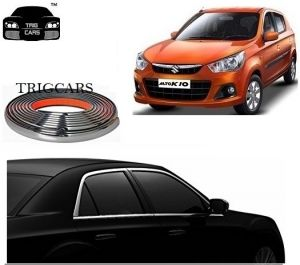 Trigcars Maruti Suzuki Alto K10 Car Side Window Chrome Beading Moulding Roll Car Bluetooth