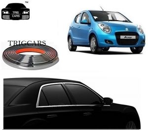 Trigcars Maruti Suzuki A Star Car Side Window Chrome Beading Moulding Roll Car Bluetooth