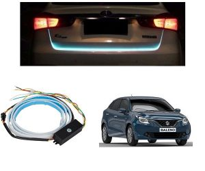 Trigcars Maruti Suzuki Baleno Car Dicky LED Light Car Bluetooth