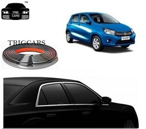 Trigcars Maruti Suzuki Celerio Car Side Window Chrome Beading Moulding Roll Car Bluetooth
