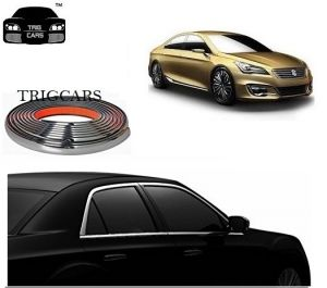 Trigcars Maruti Suzuki Ciaz Car Side Window Chrome Beading Moulding Roll Car Bluetooth