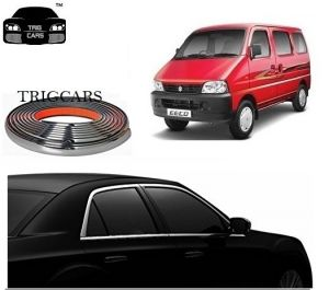 Trigcars Maruti Suzuki Eeco Car Side Window Chrome Beading Moulding Roll Car Bluetooth