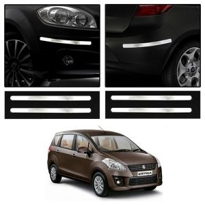Trigcars Maruti Suzuki Ertiga New Car Chrome Bumper Scratch Potection Guard Car Bluetooth