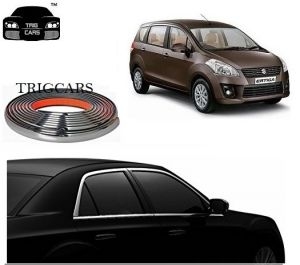 Trigcars Maruti Suzuki Ertiga New Car Side Window Chrome Beading Moulding Roll Car Bluetooth