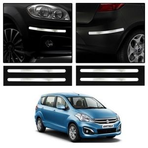 Trigcars Maruti Suzuki Ertiga Old Car Chrome Bumper Scratch Potection Guard Car Bluetooth