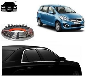 Trigcars Maruti Suzuki Ertiga Old Car Side Window Chrome Beading Moulding Roll Car Bluetooth