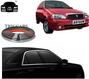 Trigcars Maruti Suzuki Esteem Car Side Window Chrome Beading Moulding Roll Car Bluetooth