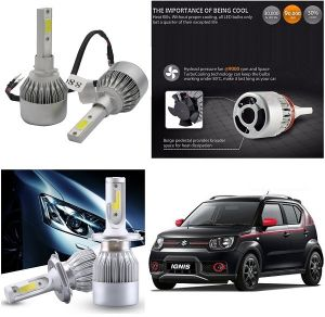 Headlights and bulbs - Trigcars Maruti Suzuki Ignis Car LED HID Head Light