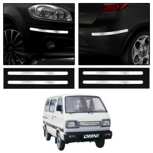 Trigcars Maruti Suzuki Omni Car Chrome Bumper Scratch Potection Guard Car Bluetooth