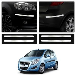 Trigcars Maruti Suzuki Ritz Car Chrome Bumper Scratch Potection Guard Car Bluetooth