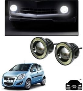 Trigcars Maruti Suzuki Ritz Car High Power Fog Light With Angel Eye