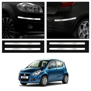 Trigcars Maruti Suzuki Ritz Old Car Chrome Bumper Scratch Potection Guard Car Bluetooth