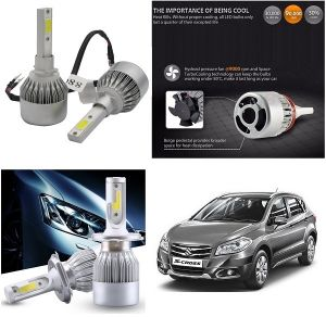 Headlights and bulbs - Trigcars Maruti Suzuki S-Cross Car LED HID Head Light