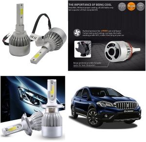 Headlights and bulbs - Trigcars Maruti Suzuki S Cross 2018 Car LED HID Head Light