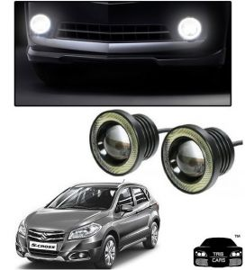 Trigcars Maruti Suzuki S Cross Car High Power Fog Light With Angel Eye