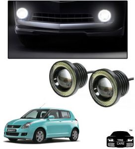Trigcars Maruti Suzuki Swift 2006-2009 Car High Power Fog Light With Angel Eye