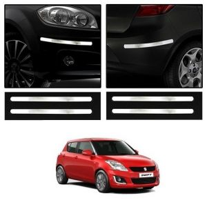 Trigcars Maruti Suzuki Swift 2006 Car Chrome Bumper Scratch Potection Guard Car Bluetooth
