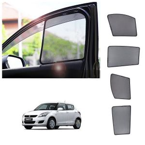 Magnetic curtain and sunshades for cars - Trigcars Maruti Suzuki Swift 2013 Car Half  Sunshade