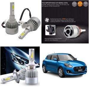 Headlights and bulbs - Trigcars Maruti Suzuki Swift 2018 Car LED HID Head Light