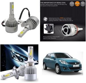 Headlights and bulbs - Trigcars Maruti Suzuki Swift Dzire 2011-2013 Car LED HID Head Light