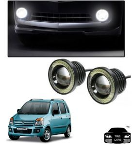 Trigcars Maruti Suzuki Wagon R 2006-2009 Car High Power Fog Light With Angel Eye