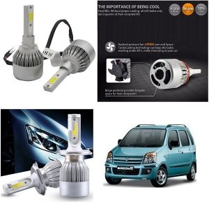 Headlights and bulbs - Trigcars Maruti Suzuki WagonR 2008-2010 Car LED HID Head Light