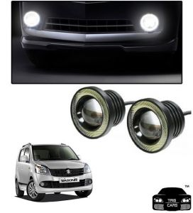 Trigcars Maruti Suzuki Wagon R 2010-2013 Car High Power Fog Light With Angel Eye