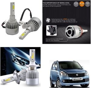 Headlights and bulbs - Trigcars Maruti Suzuki WagonR 2011-2013 Car LED HID Head Light