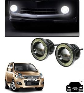 Trigcars Maruti Suzuki Wagon R 2014-2018 Car High Power Fog Light With Angel Eye