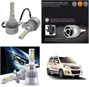 Trigcars Maruti Suzuki Wagonr 2014-2018 Car LED Hid Head Light