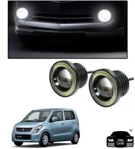 Trigcars Maruti Suzuki Wagon R Old Car High Power Fog Light With Angel Eye
