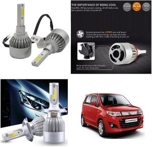 Headlights and bulbs - Trigcars Maruti Suzuki WagonR Stingray Car LED HID Head Light