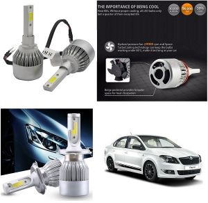 Headlights and bulbs - Trigcars Skoda Rapid Car LED HID Head Light