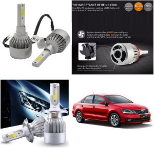 Headlights and bulbs - Trigcars Skoda Rapid New Car LED HID Head Light