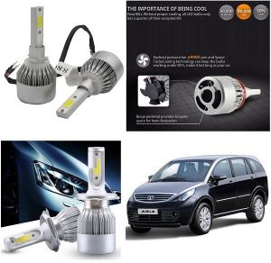 Headlights and bulbs - Trigcars Tata Aria Car LED HID Head Light