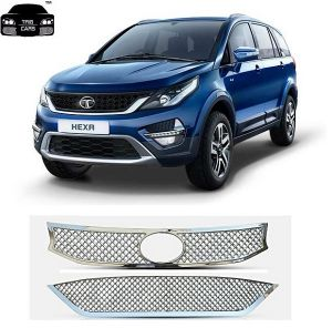 Car Accessories (Misc) - Trigcars Tata Hexa 2017 Front Grill Chrome Plated